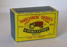 Repro Box Matchbox 1:75 Nr.04 Massey Harris Tractor alt