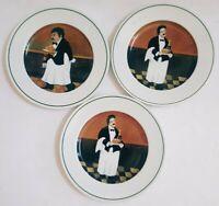 """Set (3) Williams Sonoma GUY BUFFET SOMMELIER PATTERN 11"""" Dinner Plates"""