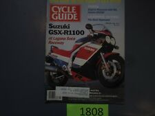 1986 FEBRUARY CYCLE GUIDE MOTORCYCLE MAGAZINE SUZUKI GSX-R1100 LAGUNA ALAZZURRA