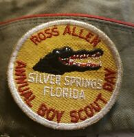 Vtg ROSS ALLEN Annual Boy Scout Day Badge PATCH BSA Silver Springs Florida GATOR