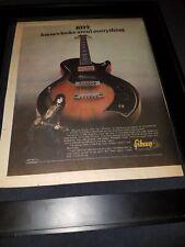 KISS Paul Stanley Gibson Guitar Rare Original Promo Poster Ad Framed!
