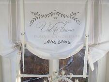 Raff Gardine MAJE ROSA Rollo 100x90 weiß LillaBelle Shabby Landhaus Curtain