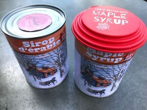 2 X Pure Quebec Maple Syrup 540ml (18oz) Can, With Cover, Imported from Canada