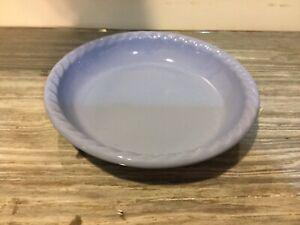 "Henn Workshops Periwinkle Blue Pie Plate 10""  Stoneware Roseville USA"