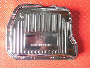 TRANSMISSION PAN CHROME 727 DEEP or STOCK DEPTH TORQUEFLITE W/ DRAIN PLUG DODGE