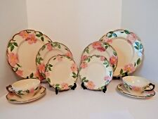 Franciscan Desert Rose 2 Place Settings Cup Saucer Plate Dinner Salad TV Stamp