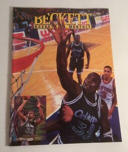 Beckett BasketBall Monthly April 1995 #52 Shaquille O'Neil Cover