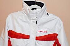 SPYDER XSCAP Womens Size 6 White Snow Board Ski Jacket Coat Hood XT Waterproof