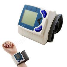 Wrist Cuff LCD Digital Blood Pressure Pulse Heart Beat Meter Pulse Rate Monitor