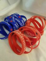 Trump 2020 Never Let You Down Silicone Bracelets - 5 total - $1.59/ea
