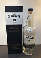 Individual Empty GLENLIVET 18 Scotch Whisky Bottle WITH CASE Decanter 750 ml