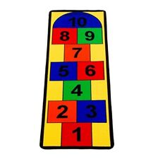 Activity Rug Carpet Hopscotch Game Child Playroom Learning Numbers Colors Runner