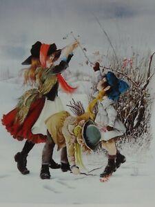 Vintage Childrens Art Poster Print The Tangle Anne Grahame Johnstone Illustrator
