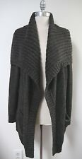 NEW VINCE gray baby alpaca blend open front long cardigan sweater size M