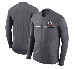 Nike Atlanta Falcons SBLI Super Bowl LI 51 Hybrid Mens FZ Jacket Grey AA7222 021