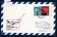 87819) LH FF München - Laibach Jugoslawien 24.6.74, Karte ab Trinidad, ship