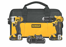 Dewalt 20 Volt Max Lithium Ion Compact Drill/Driver & Impact Driver Combo Kit