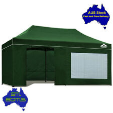 Gazebo 3x6m Instahut Pop Up Outdoor Folding Marquee Tent Canopy Party - GREEN