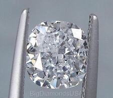 1.51 CARATS CUSHION CUT CERTIFIED LAB GROWN DIAMOND D SI2
