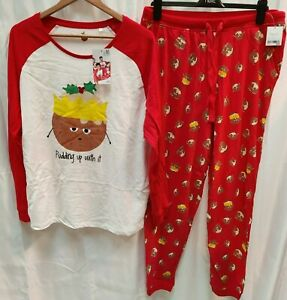 NEXT - Women's Christmas Xmas Pyjamas - Pudding Up With It  - (CPJ-3)
