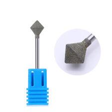 Diamond Head Nail Drill Bit File Cuticle Cutter for Electric Machine Manicure