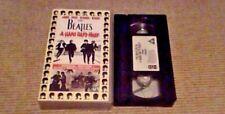THE BEATLES A HARD DAY'S NIGHT UK PAL VHS Video 1995 RARE Lennon / McCartney