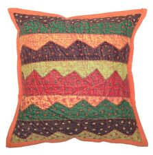 "16"" Bohemian Embroidered Patchwork Pillow Cushion Cover Sofa Throw Home Decor"