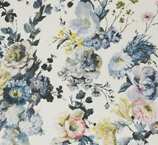 DESIGNERS GUILD FABRIC SERAPHINA DELFT LINEN VIOLA COLLECTION F2015/01 -  1.48m