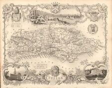 1840 ANTIQUE MAP - SUSSEX BY THOMAS MOULE