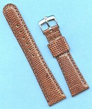 20mm Genuine Lizard Mb Strap Band Tang Leather Lined & Rolex Tudor Steel Buckle