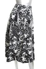 New Women's Olivia Grace elements A-Line Skirt Black &White Jungle 10