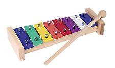 61979 GOKI Xylophon mit 8 farbigen Tonplatten HOLZSPIELZEUG