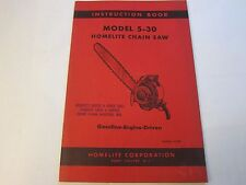 NEW OLD STOCK 1956 Homelite Chainsaw 5-30 Instruction Book LOTS More Listed LG5