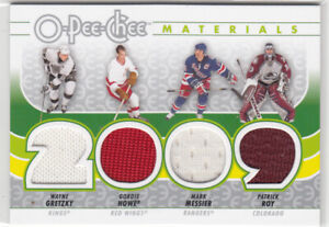 OPC 2009-10 - Quad Jersey Materials - Gretzky / Howe / Messier / Roy #J-LGND