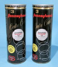 2 1950's Sealed Pennsylvania Tennis Ball Cans w/Key General Tire Play Rated