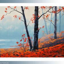 Red Landscape Original Art Paintings