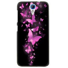 Coque rigide noire pour HTC Desire 620 avec impression Motif papillons fushi