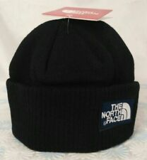 Black Warm Beanie The North Face Embroidery Cotton Hat