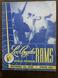 1946 Detroit Lions v L.A. Rams 1st Year in L.A.Football Program/Waterfield cover