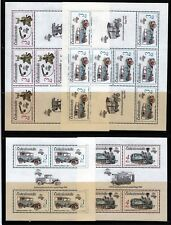 Czechoslovakia Sc 2656-70 NH Cplt Set of Minisheets of 1987 -  Transportation