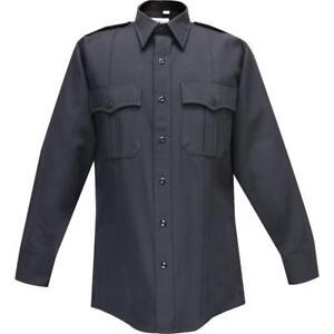Flying Cross Mens Long Sleeve Tropical Uniform Shirt_Police_Fire_Polyester/Rayon