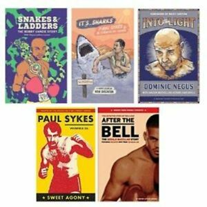 Collection of Boxing Books - Paul Sykes, Dominic Negus,Gerald McClellan, etc.