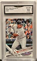Mint 2017 Topps Opening Day #148 Miguel Cabrera Tigers graded GMA 10 Gem Mint