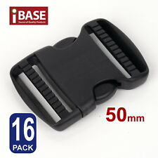 16x Quick Release Buckle Clip Side Cord Strap Fastener Belt Dual Adjustable 50mm