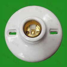 4x Ceramica Smaltata a Vite Edison E27 Porcellana Lampadina Lampada Sostegno