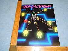 1980 Stern BERZERK Video Arcade Game Advertising Flyer