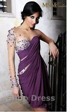 mnm couture 9012 Puple One Sleeve dress 4