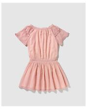 Robes roses en polyester pour fille de 6 à 7 ans