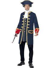 Men's Pirate Commander Fancy Dress Costume Sailor Explorer Captain Stag Theme Do