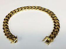 "Link mens Bracelet 7.5"" 48 grams 10.5Mm 14k Solid Gold Handmade Miami Cuban Curb"